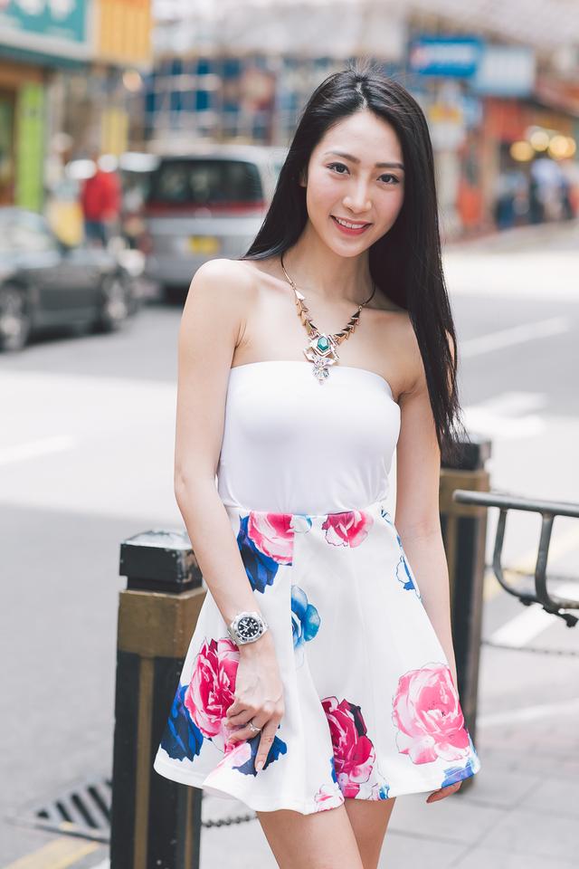 TSW Penelope Neoprene Flare Skirt in Rose