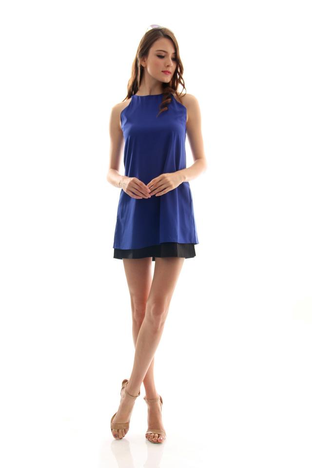 TSW Lunchbox Lady Swing Dress in Midnight Blue (L)