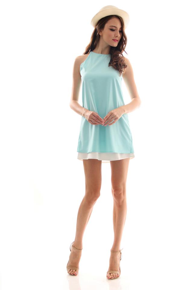 TSW Lunchbox Lady Swing Dress in Mint (L)