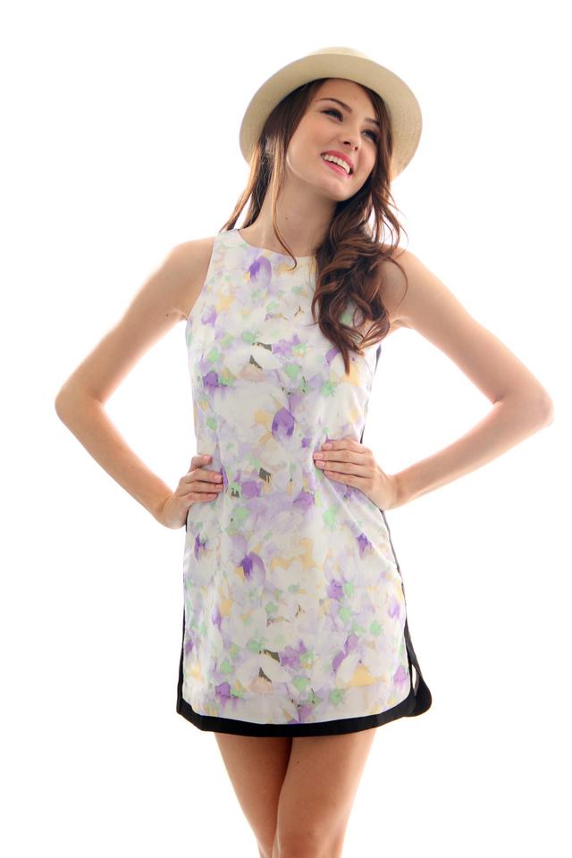 TSW Tic Tac Toe Frame Dress In Rosemary