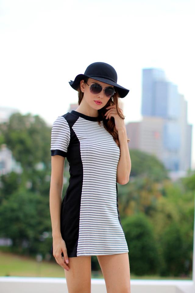 TSW Skywalker Speckled A-Line Dress in Black (XS)