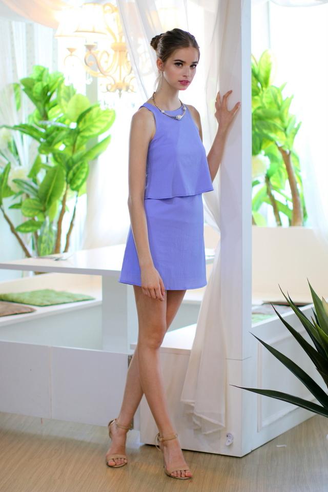 TSW Fearless Tone Double Tiered Dress in Iris (L)