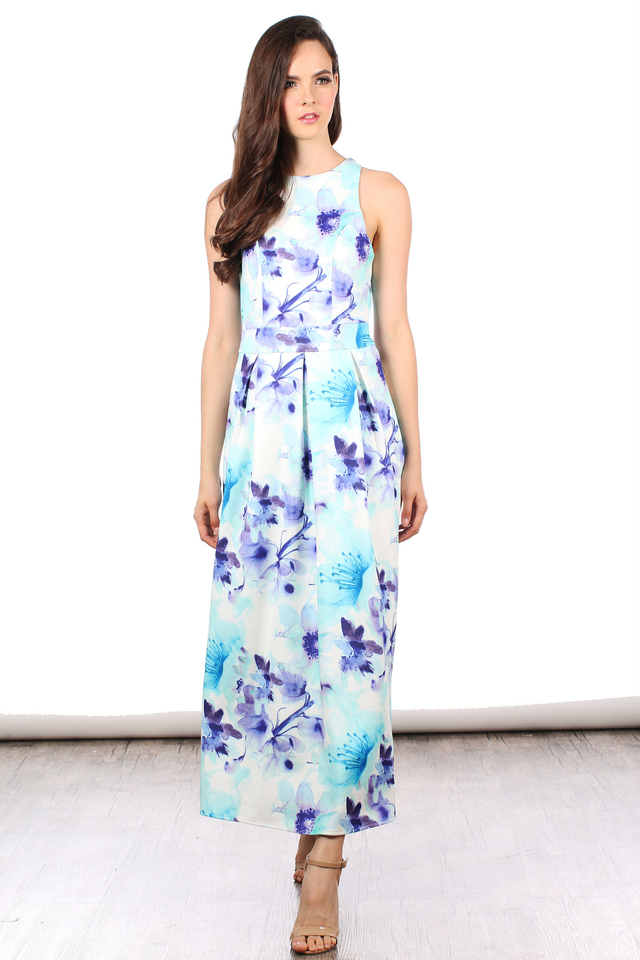 TSW Faerie Garden Maxi Dress in Blue Bloom