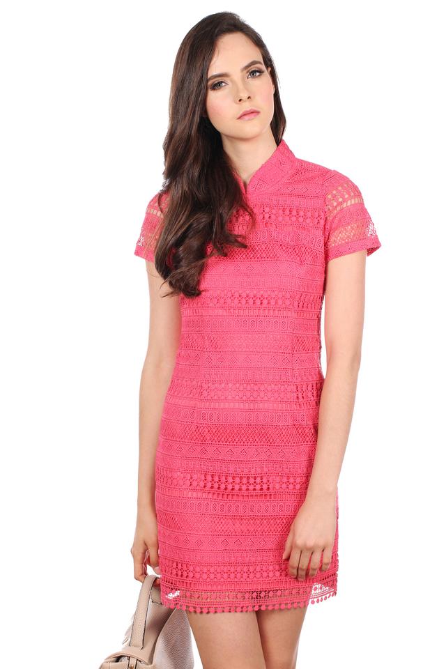 TSW Modern Peony QiPao Dress in Petal Pink (S)