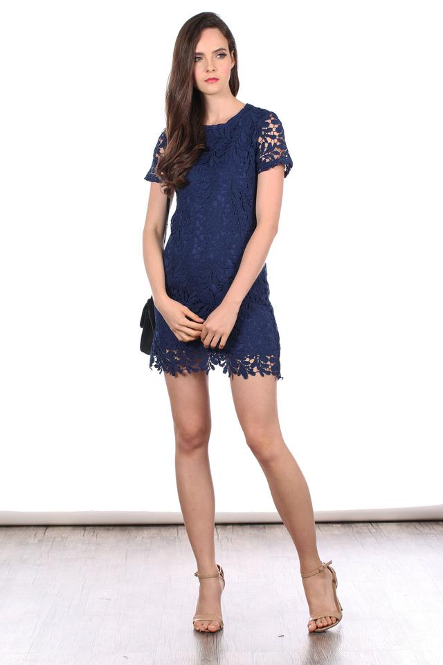 *RESTOCK* TSW Poet Crochet Dress in Navy Blue (S)