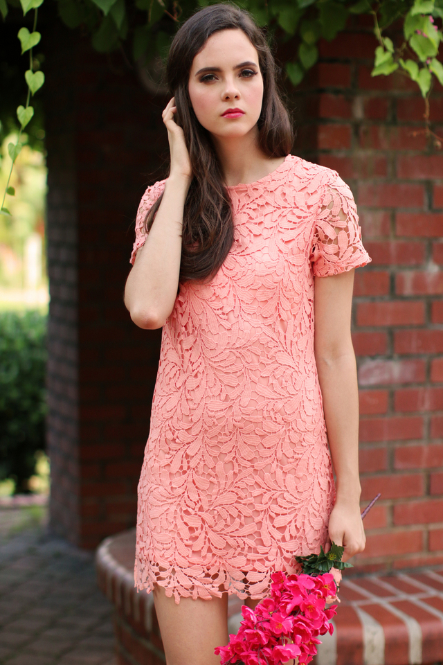 *RESTOCK* TSW Poet Crochet Dress in Peach