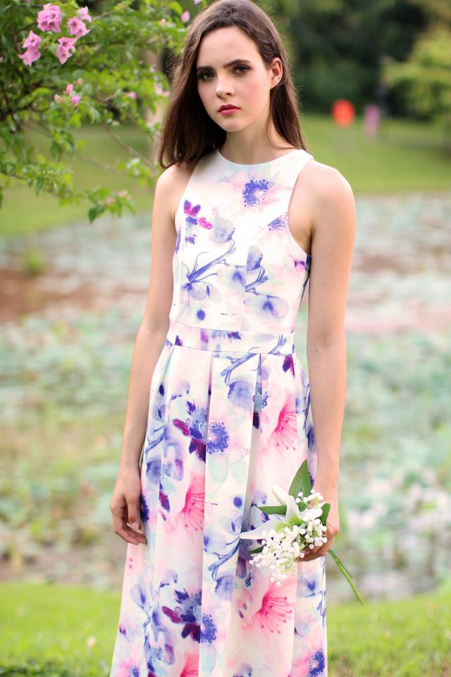 TSW Faerie Garden Maxi Dress in Pink Bloom (XS)
