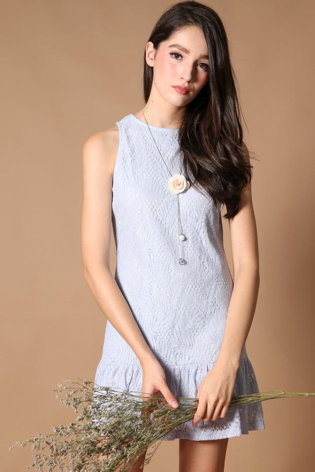 TSW Raine Drop Waist Dress in Powder Blue