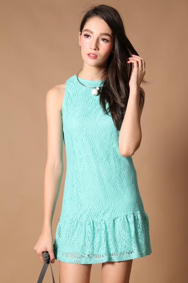 TSW Raine Drop Waist Dress in Mint
