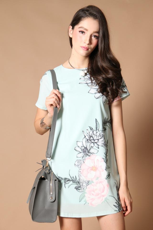 *RESTOCK* TSW Tabitha Tie-Sash Shift Dress in Tiffany