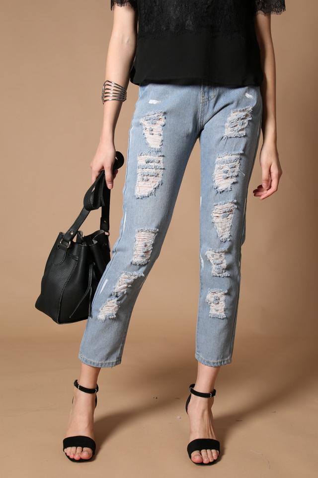 TSW Yoko Paint Splatter Ripped Jeans