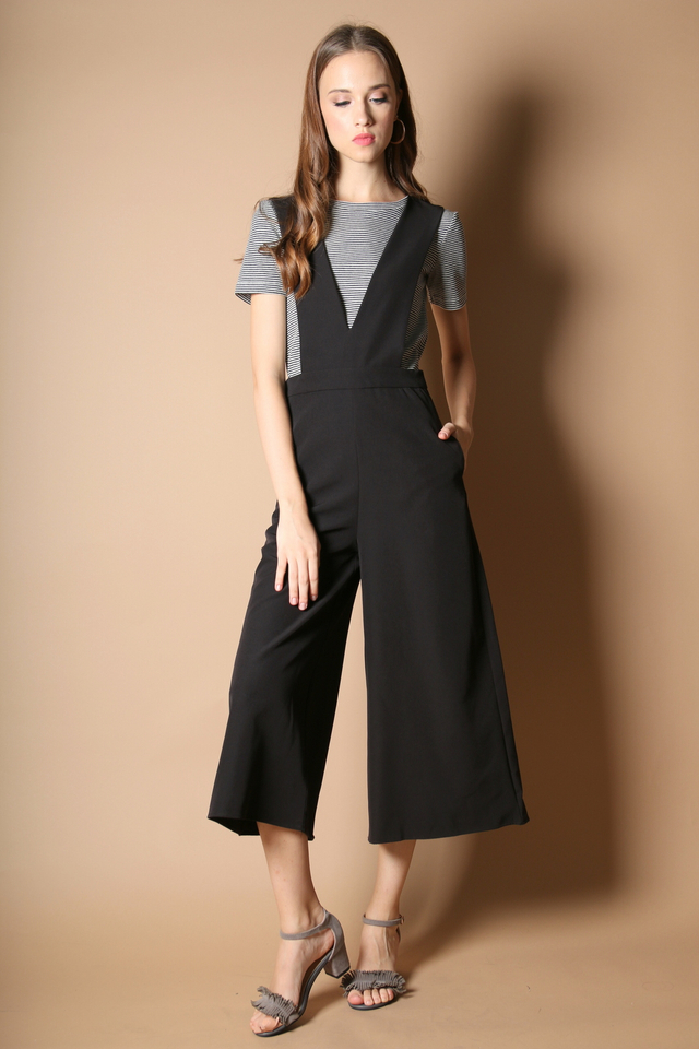 Chelsea Strappy Jumpsuit in Black (S)