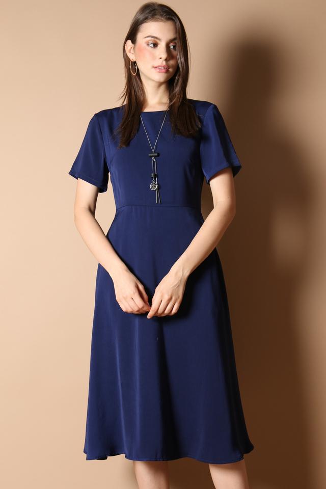 Averi Midi Dress in Navy