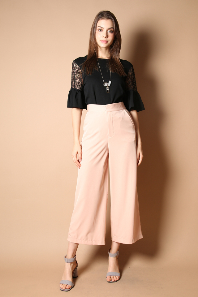 Amedia Culottes Pants in Nude