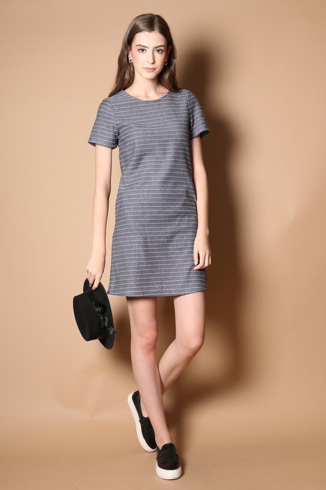 Nadia Pocket Casual Dress in Navy