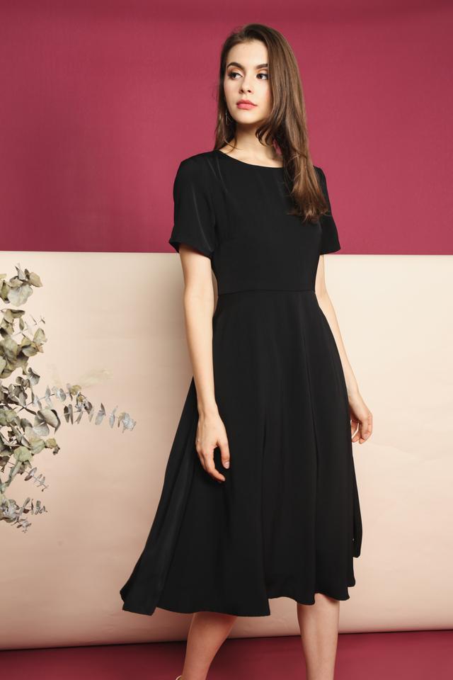 Averi Midi Dress in Black