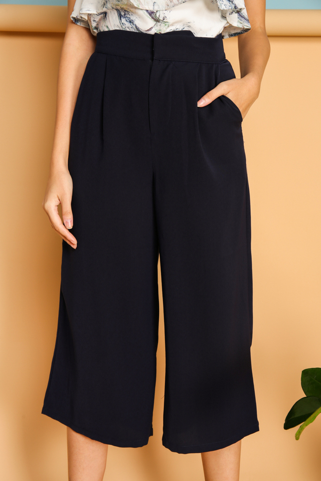 Jermaine Flare Culottes in Navy