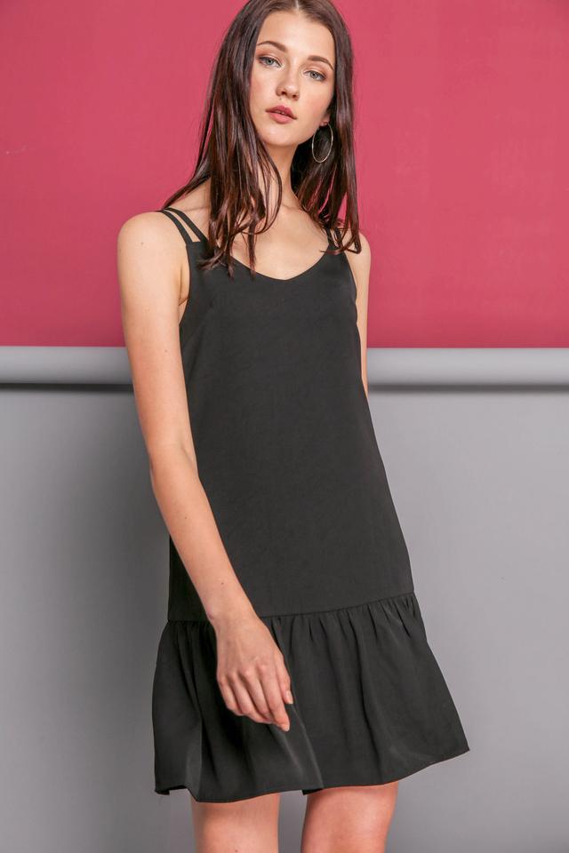 Angela Slip On Dress in Black