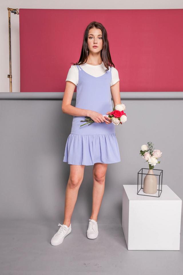 Angela Slip On Dress in Periwinkle