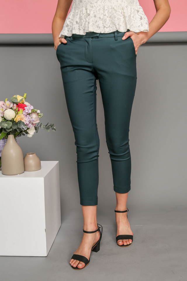 Adley Fitted Work Pants in Forest