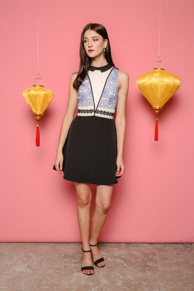 Emily Peterpan Collar Crochet Dress (XS)