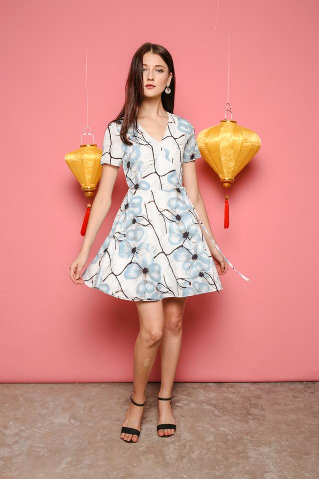Sheila Floral Dress in Mint (S)