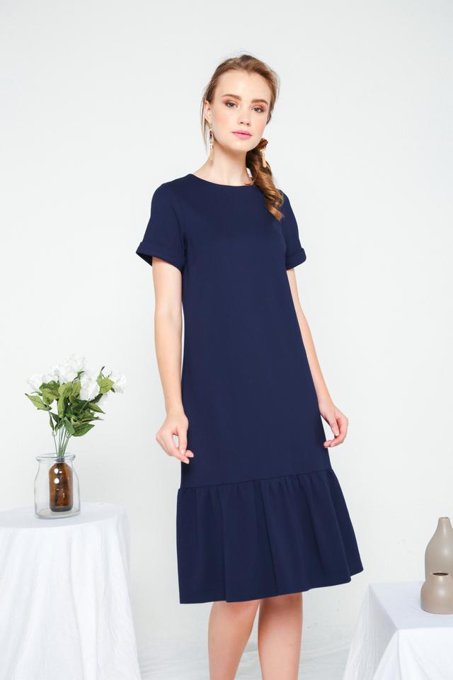 Orlando Basic Dropwaist Dress in Navy