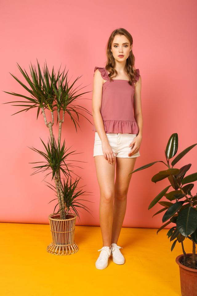 Amora Ruffled Top in Pink