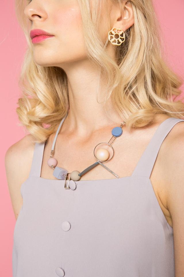 Viridienne Geometric Necklace in Blue