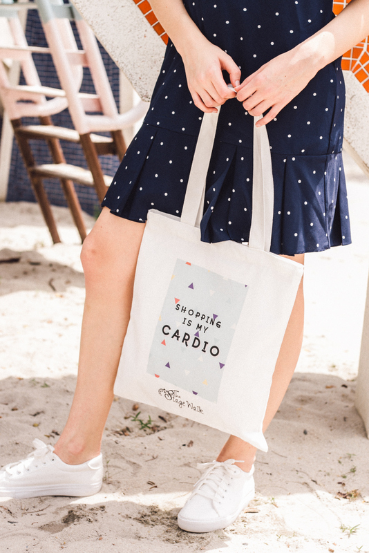 """""""Shopping is my cardio"""" Tote Bag"""