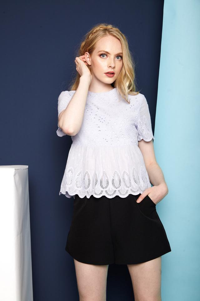 Enrica Basic High Waisted Shorts in Black