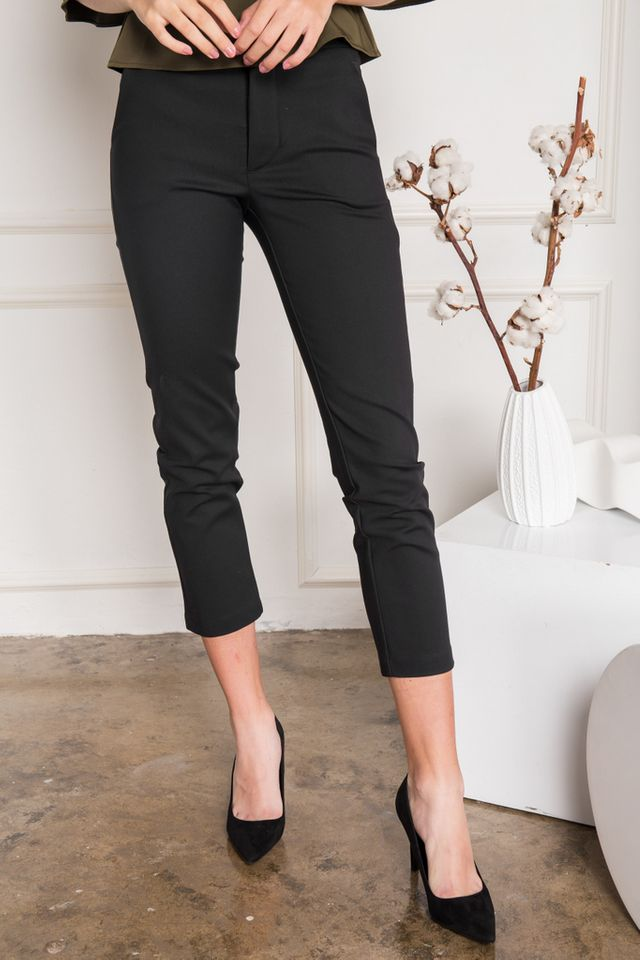 Fannia Tapered Work Pants in Black (XL)