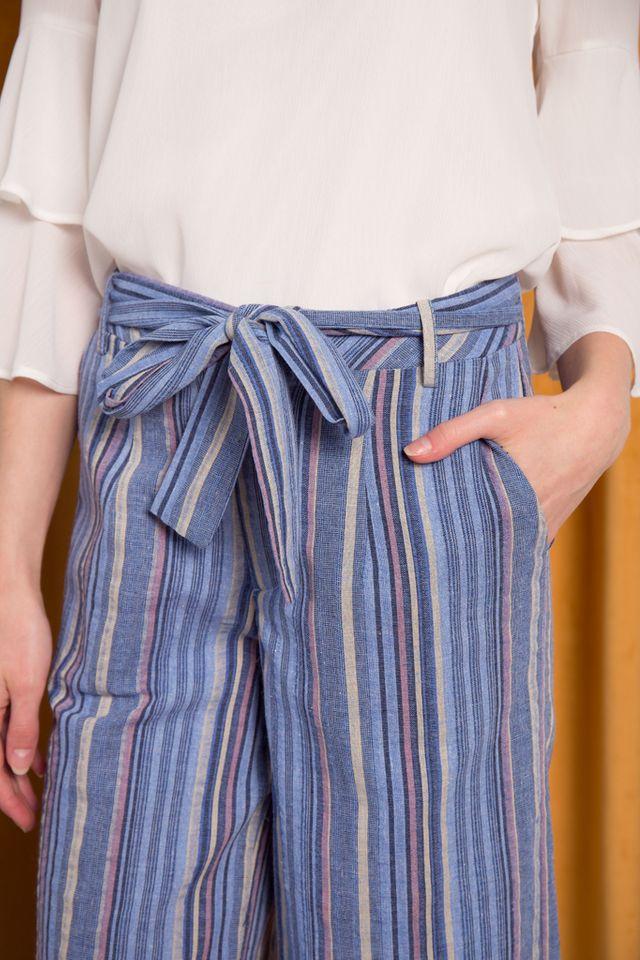 Riane Striped Culottes in Blue