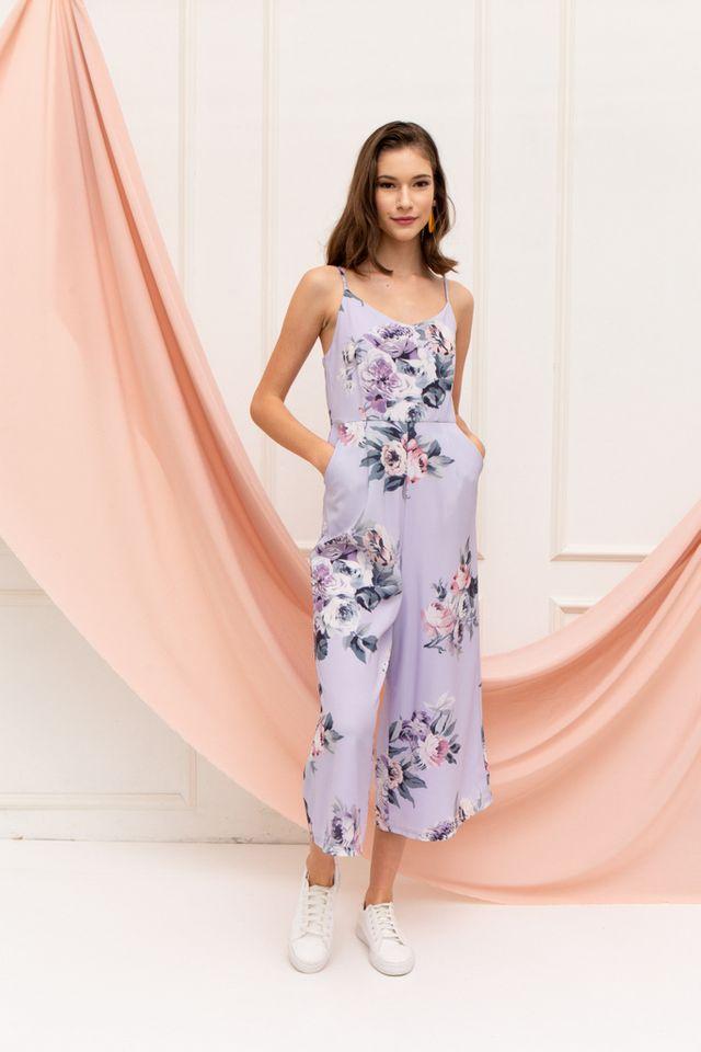 Eline Floral Jumpsuit in Lilac