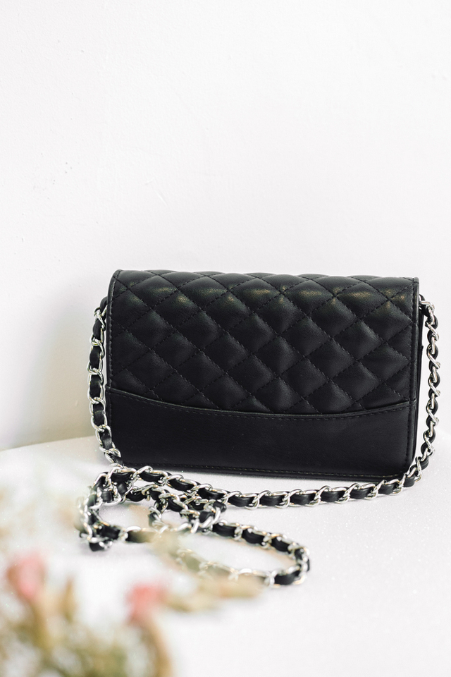 Felice Quilted Purse in Black