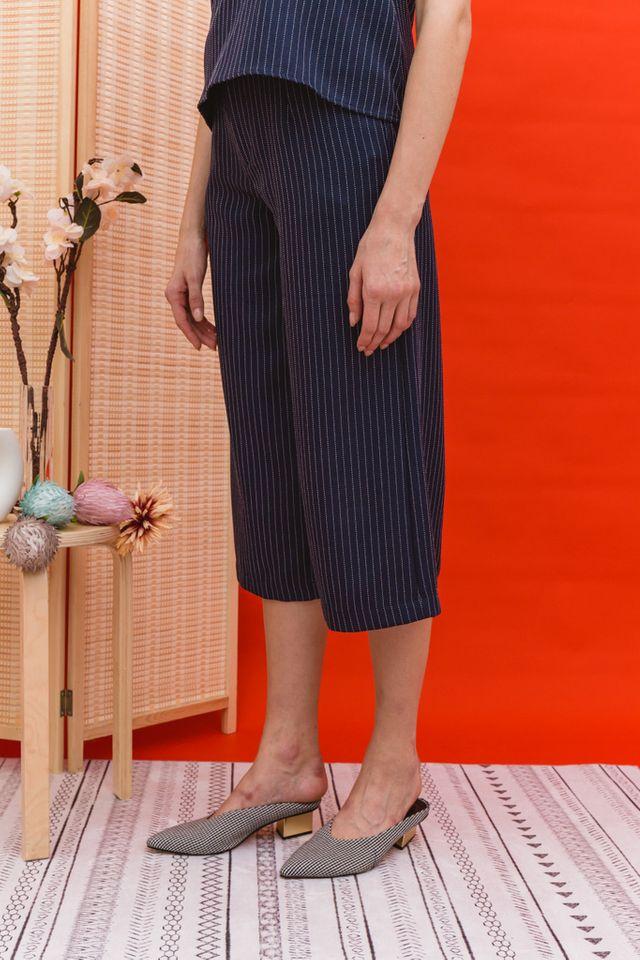 Lauryn Stitched Culottes in Navy (XL)