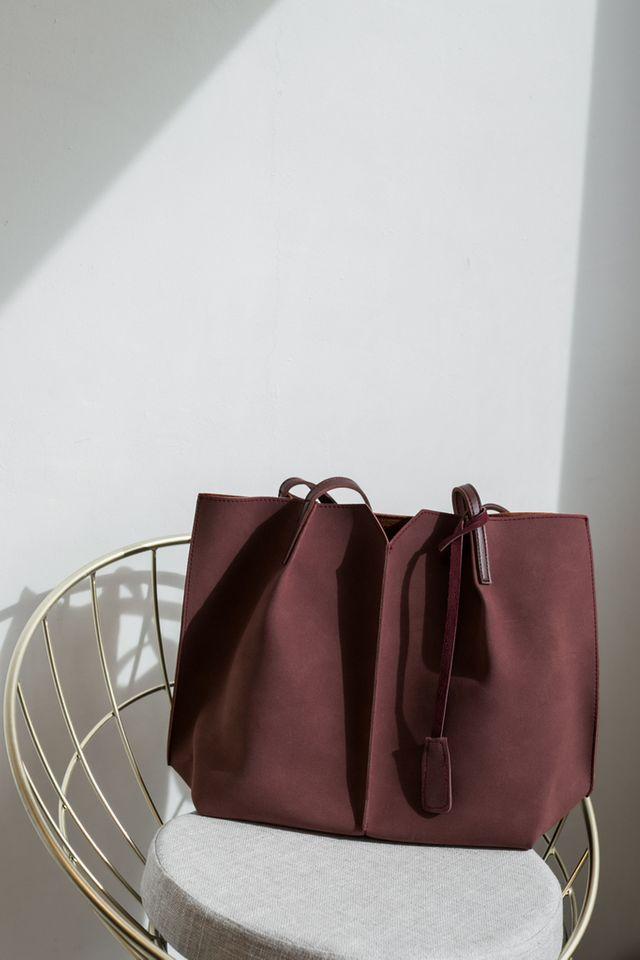 Cydney Two-tone Handbag in Redwood