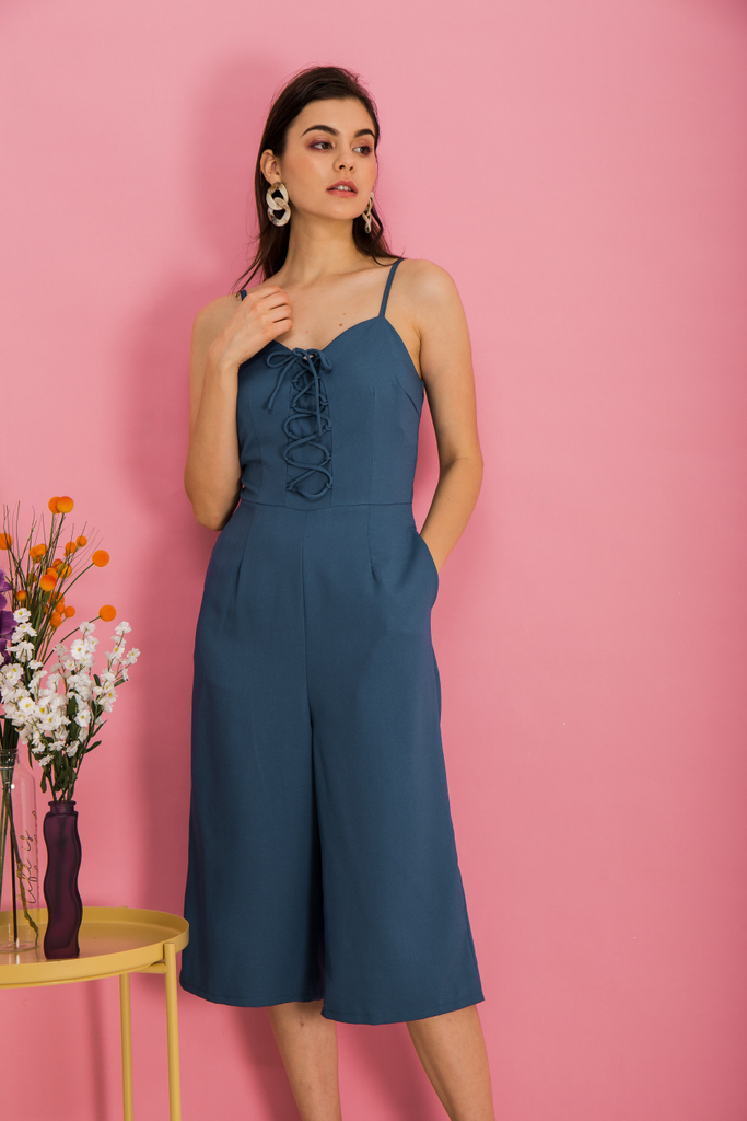 8dd2106be40 Lexi Lace-up Jumpsuit in True Blue