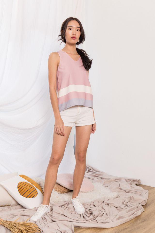 Svea Colourblock Top in Pink
