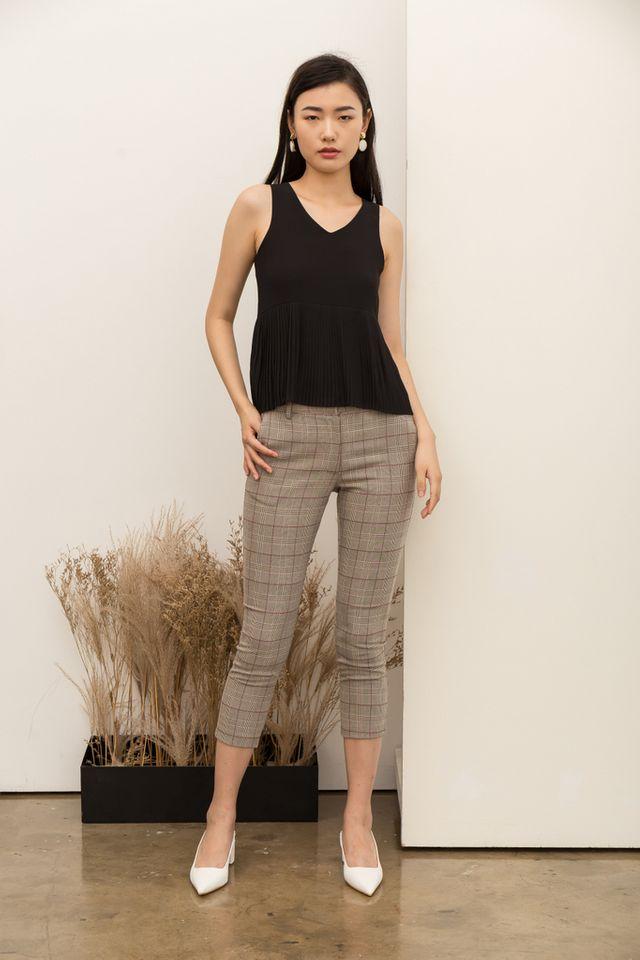 Ayden Plaid High-Waisted Trousers (XL)