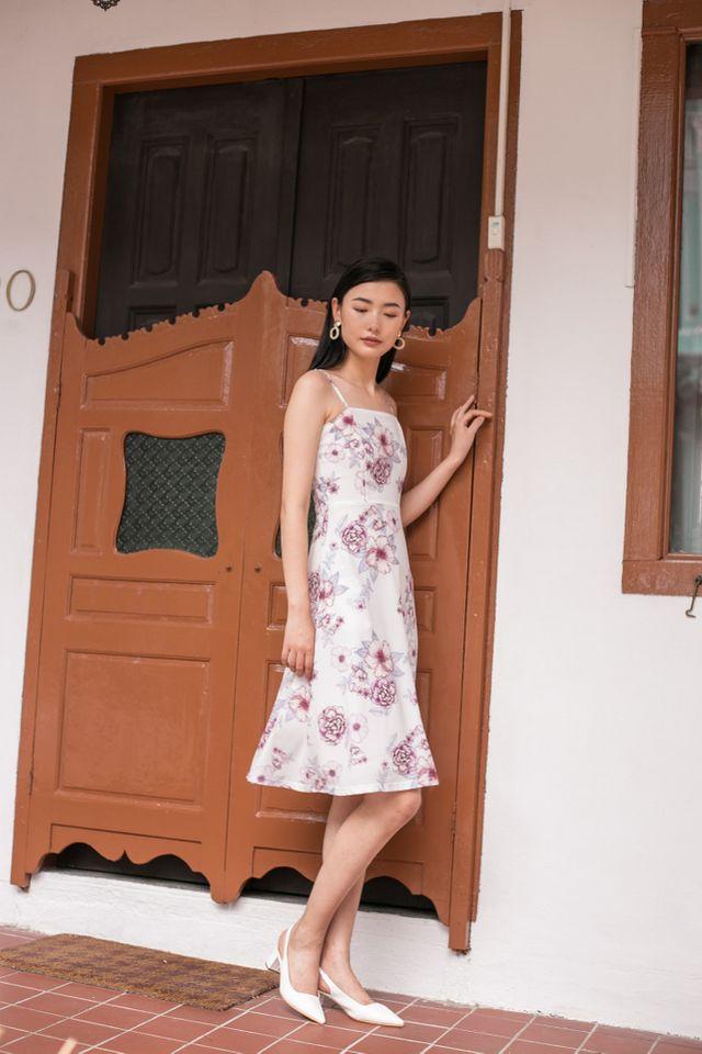 Cali Floral Flare Midi Dress (XL)
