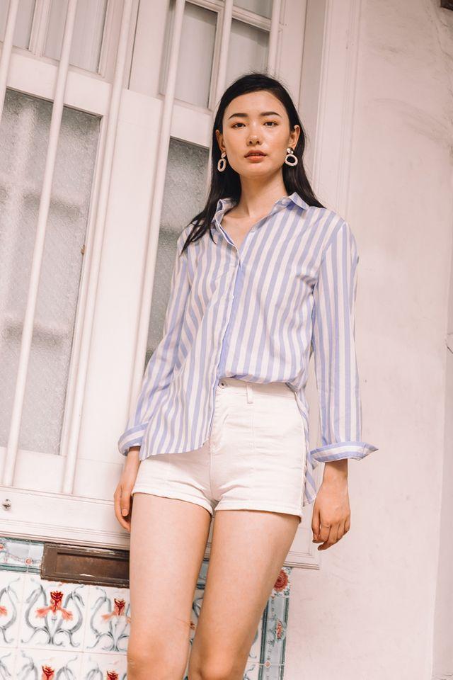 Doran Striped Collar Shirt (L)