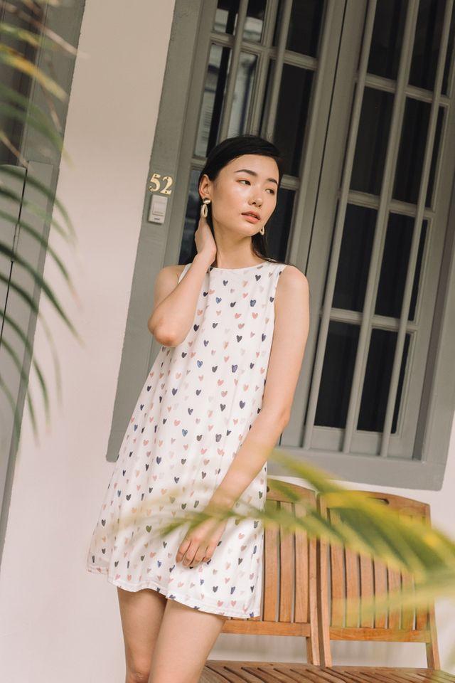 *RESTOCK* Althaea Sweetheart Trapeze Dress in White