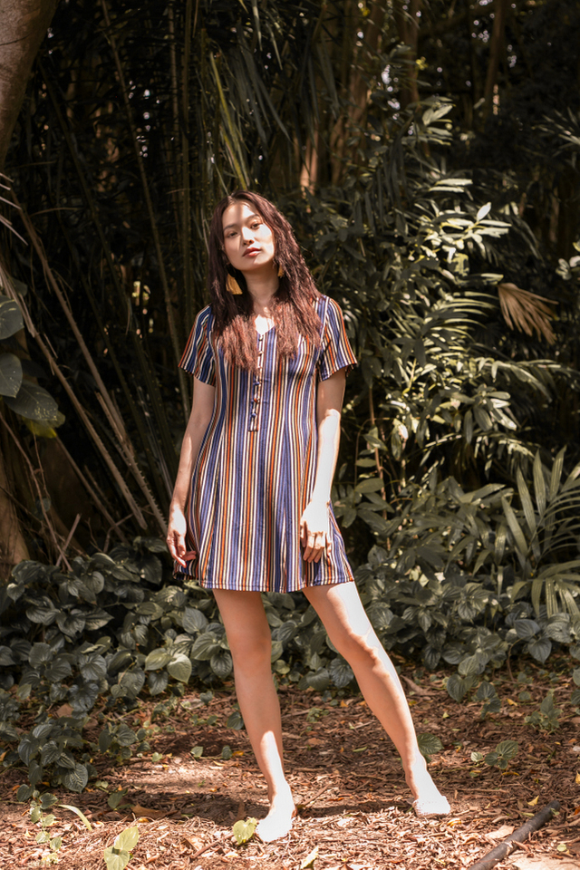 Seraphina Striped Button Dress