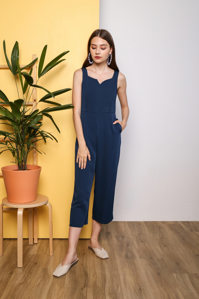 Hayleigh V Neck Jumpsuit in Teal