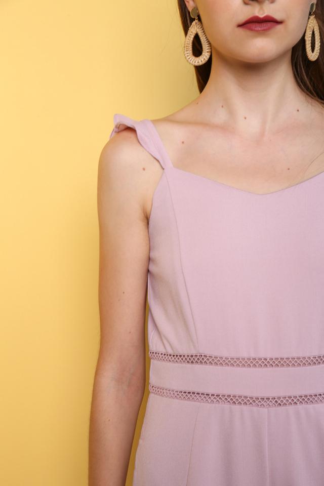 Taemi Ruffles Shoulder Playsuit in Pink