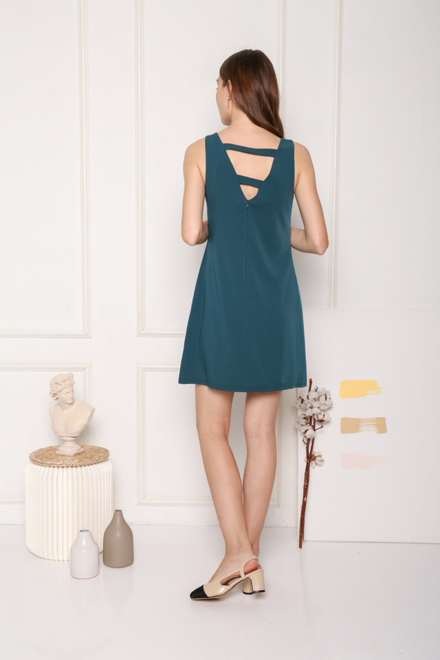 Avielle Double Straps Dress in Teal (XS)