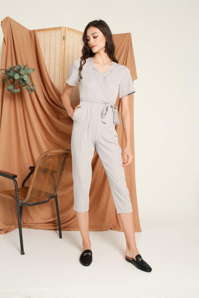 Deetta Wrap Jumpsuit in Grey (L)