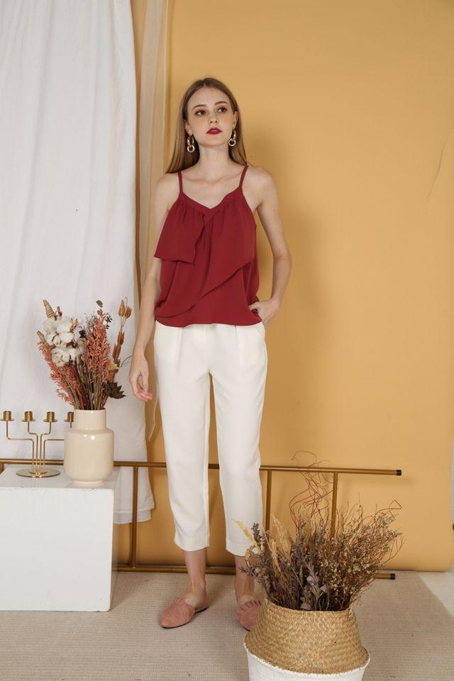 Lynda Work Pants in White