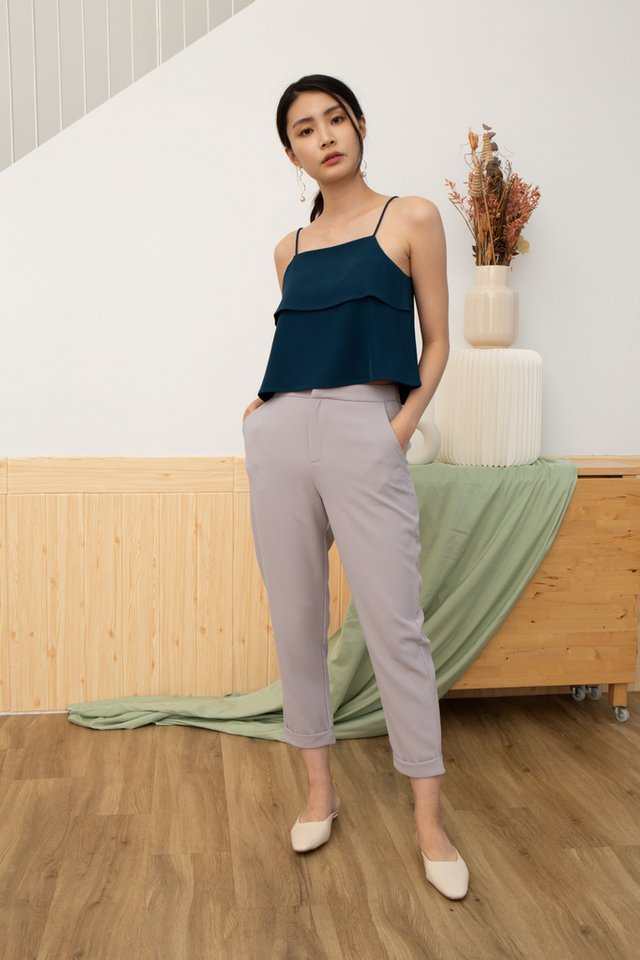 Camila Tiered Camisole Top in Teal
